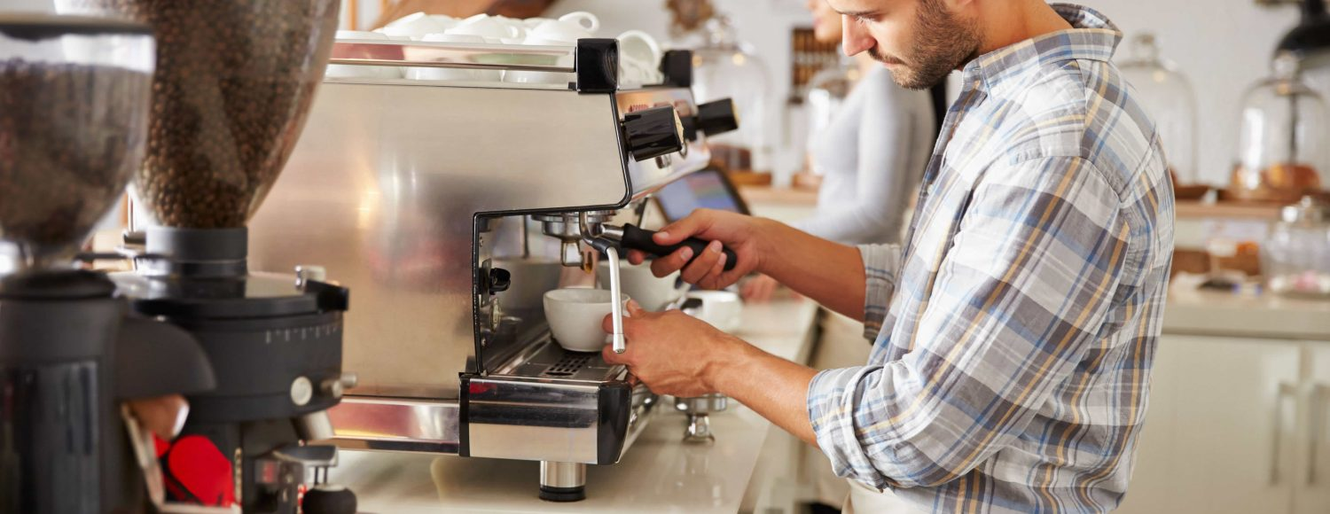Barista, espresso coffee equipment