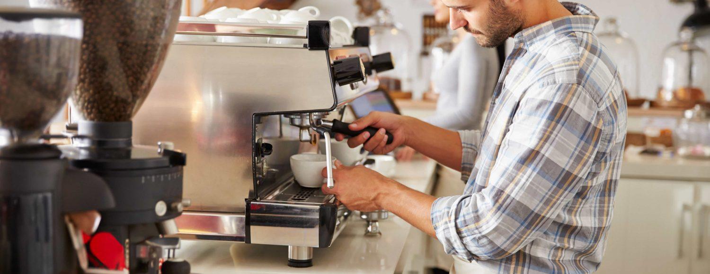 Barista, espresso coffee equipment