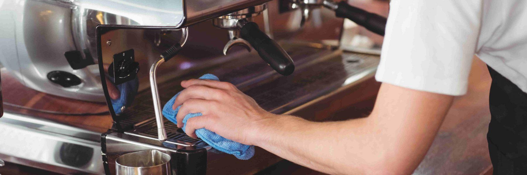 Coffee machine, barista maintenance and support